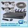 Kit Completo Video Vigilancia Cctv Dvr 8 Canales + 4 Cámaras