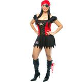 Fantasia De Pirata Feminina Sexy,piratinha Do Caribe Adulto