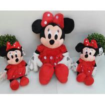 Disney Minie De Pelucia Vermelha Kit C/3