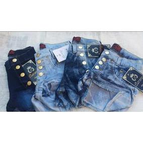 Kit 3 Shorte Jeans Feminino Cintura Alta Lindos