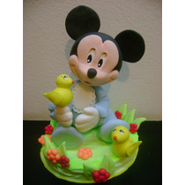 Adorno Centro De Torta Minnie Mickey Bebe