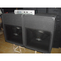 2bafles1810sub Graves18 2400w+potencia1200w Apx600 O Pm-600