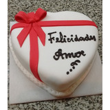 Torta Artesanal Decorada - Mini Corazon - 800 Grs