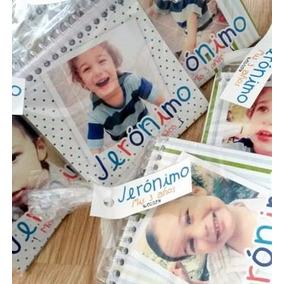 Anotadores Personalizados De 10x15 Cm Con Bolsita Y Sticker