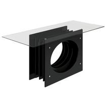 Mesa De Jantar Lj Moveis Inovare -190x90- Com Tampo De Vidro