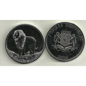 Moneda Somalia Año 2013 Leon 38 Mm De Diametro Sin Circular