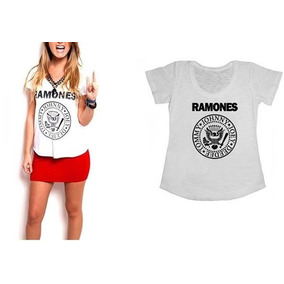 Camisetas Ramones - T-shirts Femininas - Personalizada