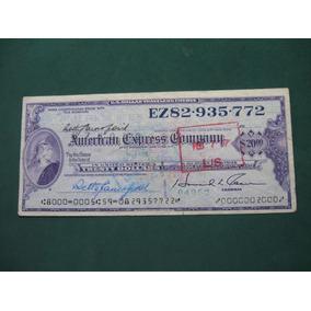 Cheque De Viajero American Express Company. Travelers Dollar