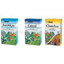 Kit Alcon Labcon Anti Algas 15ml + Cristal 15ml + Cloro Test