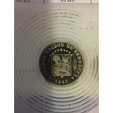 Escasa Moneda De 5 Centimos De Venezuela 1945