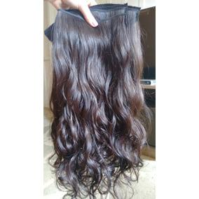 Cabelo Humano Ondulado Tecido Tela 65 Cm E 50g Mega Hair