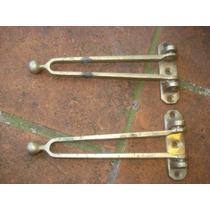 2 Bases Para Pasador De Bronce De Puerta-precio X C/uno