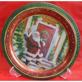 Prato Decorativo Metal - Santa Edwiges - Natal - A1