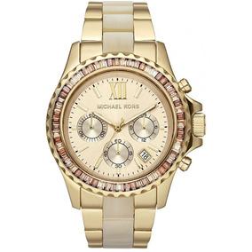Relógio Michael Kors Mk5874 Everest Dourado Madreperola