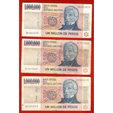Lote 12 Billetes Argentino Ley $ 1000000