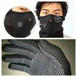 Guantes Primera Capa Mascara Neop Polar No + Frio Termica