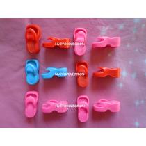Lote De Sandalias De Colores Para Munecas De 30cms
