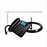 Kit Celular Rural 2 Chip +antena Aquário 20 Dbi Ca802 +cabo