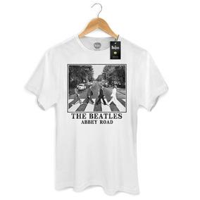 Camiseta Masculina Oficial The Beatles Abbey Road White