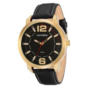 Relógio Mondaine Social Grande Pulseira Couro 83300gpmkdh2