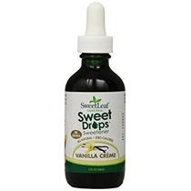 Sweetleaf Dulce Gotas De Líquido Stevia, Crema De Vainilla