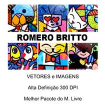 Pacote Vetores Romero Brito -90 Imagens Vetores Alta Definiç