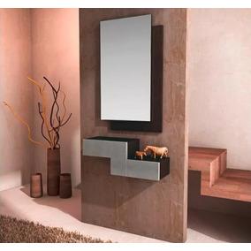 Consola Recibidor Con Espejo Moderna Minimalista De Lujo