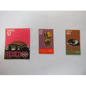 Olimpiada México 68 3 Estampillas