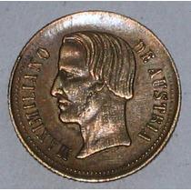 Maximiliano Medalla Cabeza Imaginaria 1863