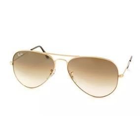 Óculos Ray Ban Aviador 100% Original Degradê Marrom Clássico