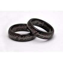 Par De Alianças - Senhor Dos Anéis - Tungstênio Negro