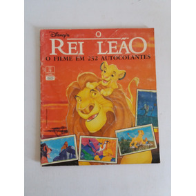 Álbum De Figurinhas Livro Ilustrado O Rei Leão 1994 Completo