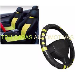 Gol G1 G2 G4 G5 Kit Amarelo Capa Banco Carro E Capa Volante