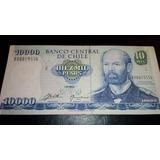 Billete De Chile 10000 Pesos 1992 Reposición