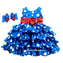 Vestido De Festa Infantil Luxo Galinha Pintadinha E Faixinha