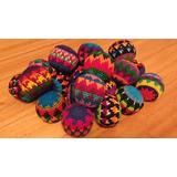 Set De 3 Pelotas Tejidas En Crochet Malabares Circo Footbags
