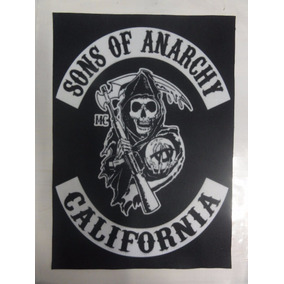 Backpatch Sons Of Anarchy Califórnia - Medidas: 28x20 + Cr