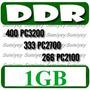Memoria Ram 1gb Ddr 400 Pc3200 / 333 Pc2700 / 266 Pc2100 Sp0