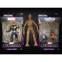 Marvel Legends Infinite Series Nova Rocket Racoon Groot