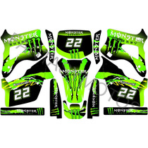 Calcos Kawasaki Kx125-250 94-98 Competicion Kit Monster