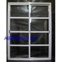 Puerta Balcon Aluminio 180x200 Vidrio Repartido Horizontal