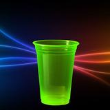 Copo Neon Limão 300ml Brilha Na Luz Negra - Kit 25un