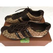 Zapatos / Tenis Coach De Mujer Tela Medida 3.5, Nuevos Caja
