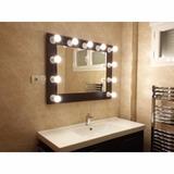 Espejo Con Luces Moderno Vintage Retro Bano Habitacion Muebl