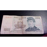 Billete De Chile 1000 Pesos 1992 Reposicion