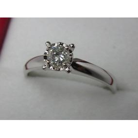Anillo Compromiso 18k Diamante Natural .15 Puntos G Vvs2