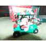 Enfeites Natal Luxo Carrinho Golf Gira Noma Ornamotions #219