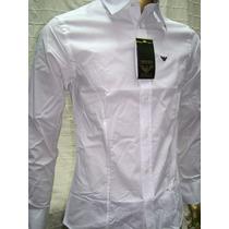 Camisa Original Emporio Armani Xxl Algodon Made In Italy