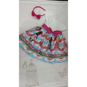 Vestido Luxo Menina Baby Alive