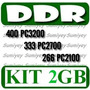 Kit 2 Memorias Ddr 1gb P Pc: Pc2700 = Ddr333 Pc3200 = Ddr400